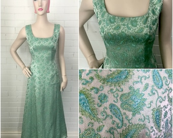 Vintage 1960s Mad Men Mermaid Evening Gown M