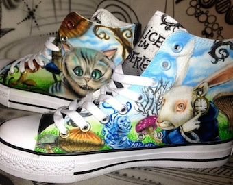 Designer Airbrush Shoes sneaker canvas graffiti art style fashion art painting unique