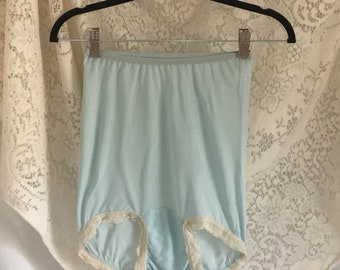 Vintage 1940's Blue High Waist Rayon Panties -Never Worn
