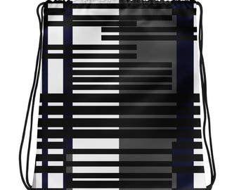 Drawstring bag- stripes