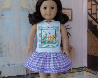 SUPER SATURDAY SALE! Like American Girl Doll Clothes / Embroidered Summer Ruffle Dress
