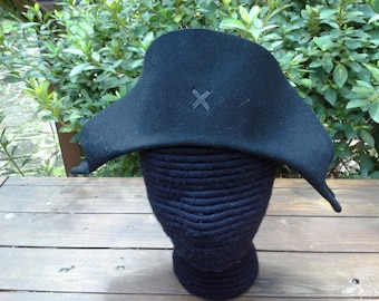 Plain Bicorne - Shaped Front - American Cocked Hat - War of 1812 - Napoleon
