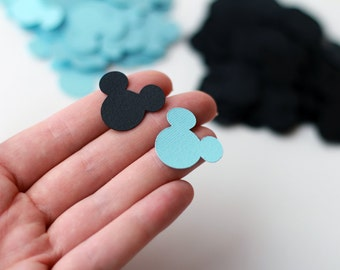 Baby shower Mickey Mouse decorations Mickey paper confetti cutouts Mickey Mouse table decorations baby blue boy first birthday party Disney