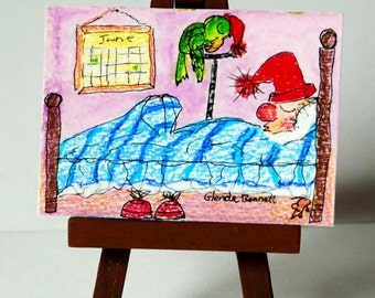 """ON SALE ACEO """" Pauli and Patrick """" Original on Heavy Art Paper"""
