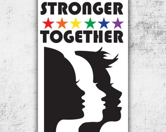 Womens March PRINTABLE Protest, Rally Sign - Poster // Stronger Together