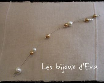 back made of beads jewelry gold and ivory