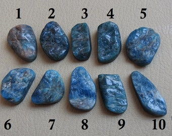 BLUE APATITE 1.Piece Natural Druzy Rough Cabochon 100% Natural Beautiful Quality Discounted Price New Arrival
