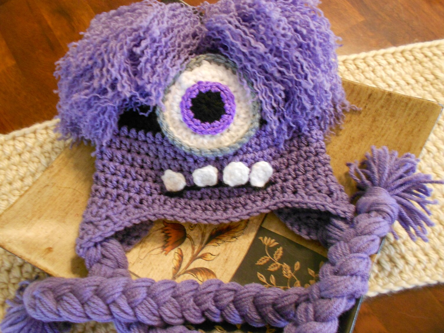 Crochet evil minion hat newborn to adult purple zoom bankloansurffo Image collections