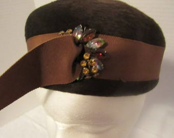 Selene Brown Felt Ladies Hat