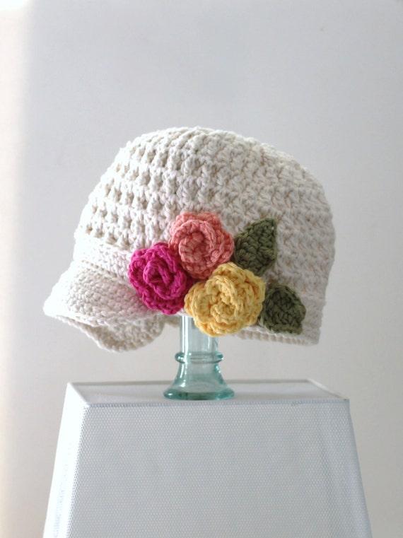 Sombrero Vendedor de periódicos Ganchillo de algodón