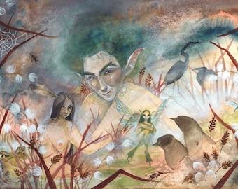 Marshland - faery art print