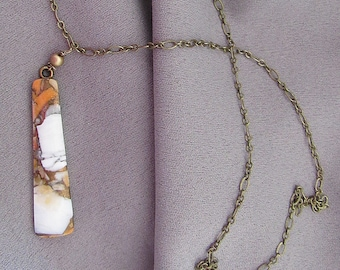 Orange Spiney Oyster Pendant Necklace/Gift for Her