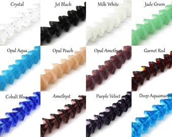 10 Glass Flower Beads - 10x12mm - Choose Color