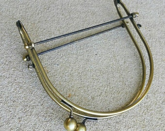 Metal purse frame - brass bag handle bag 5.5 inch handbag frame - Australia