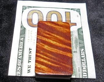Hawaiian Curly Koa Wood Money Clip