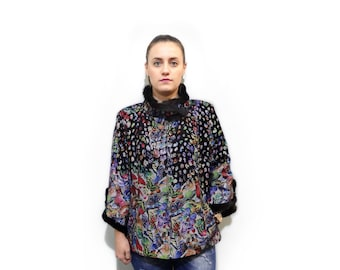 Colorful Butterfly Leather Jacket F723