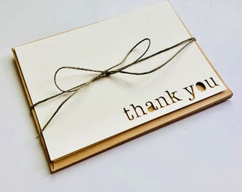 Thank You Card blank with envelope cardstock 3.5x5