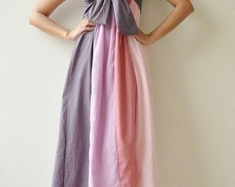 The Line Part II ...Pink Purple Maxi Cotton dress