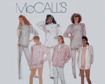 Women's sweat shirt and jacket sewing pattern New, uncut Size 18 - 20 McCall's 3233