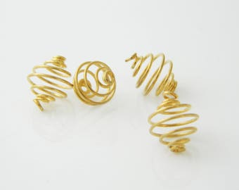 4 x 12mm (l397) Golden bead cages