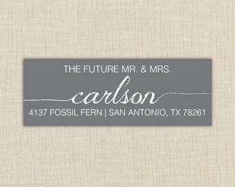 Return Address Labels, Return address stickers, return address, return address label stickers, the future mr. and mrs.