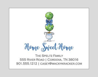 Topiary Moving Invitation // Change of Address // Plant Moving Announcement // Home Sweet Home