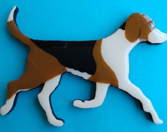 American Foxhound Pin, Magnet or Ornament -Hand Painted -Free Shipping