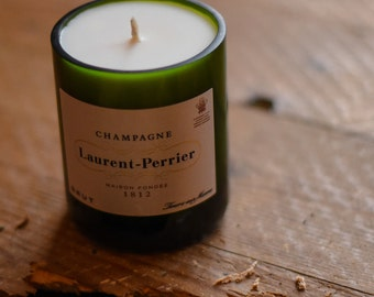 Laurent Perrier Upcycled Champagne Bottle Candle
