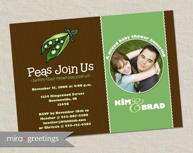 Sweet Pea Baby Shower Invitation - Printable Digital File