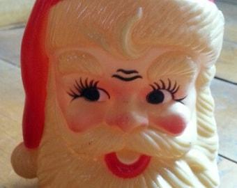 Vintage Plastic Santa Head