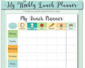 My Weekly Lunch Planner /...