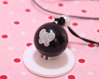 Genuine pregnancy's Bola black butterflies with glitter