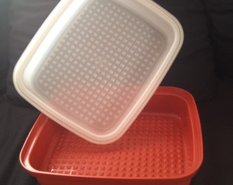 Tupperware Orange Red Season Serve Large