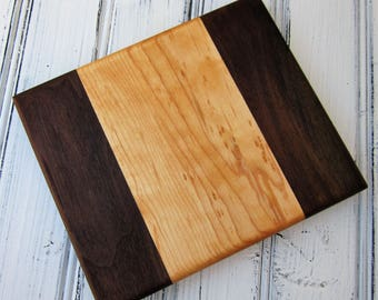 Walnut and Maple Serving Board, Cutting Board, Lime Board