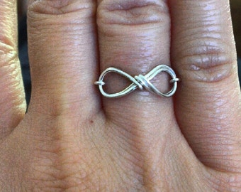 Infinity ring- wire