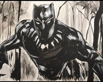 """Black Panther 24x36"""" painting"""