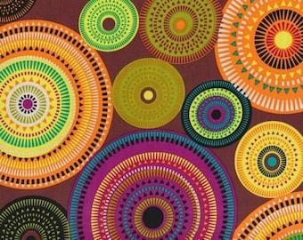 Michael Miller Norwegian Woods Aurora Borealis Forest -  FBTY - Geometric Fabric