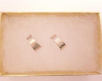 hammered half hoop earrings