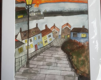 Original painting: Whitby Steps