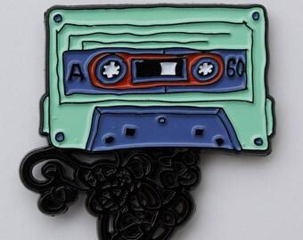 Cassette Tape Enamel Pin