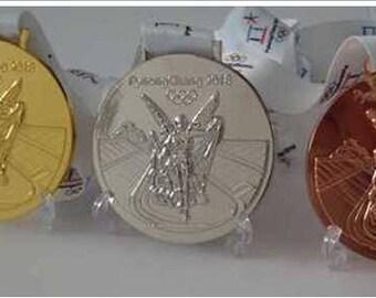 2018 PyeongChang Souvenir Medals Set with Logo Ribbons !!!