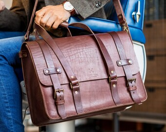 Men's Leather Weekender Bag, Cabin Luggage, Carry Lite, Laptop Bag, Travel Overnight bag, Daytripper, Handbag, Men's Fashion
