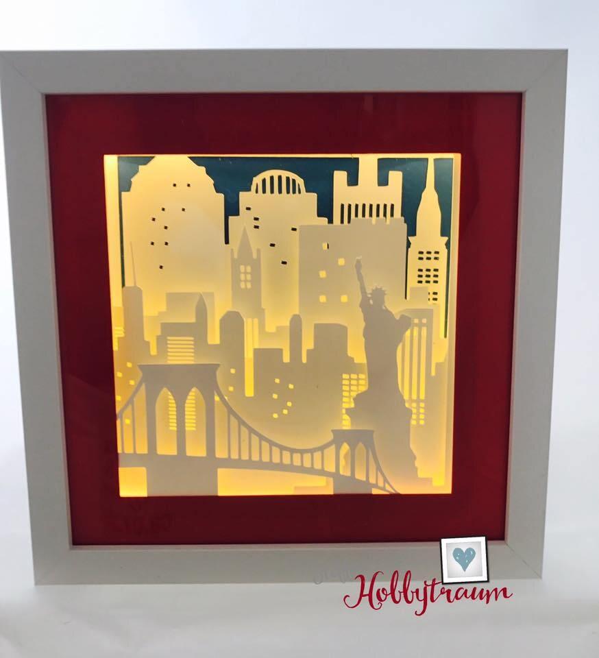 3D frame New York shadow box city breaks city skyline