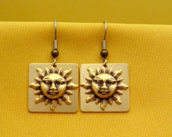 Please pass me the sunscreen antique gold earrings (Style #332)