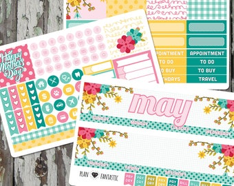 Monthly Planner Sticker Kit - Monthly Planner Stickers for use with ERIN CONDREN LIFEPLANNER™