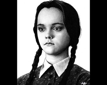 "Print 11x14"" - I Hate Everything - Wednesday Addams The Addams Family Christina Ricci Morticia Gomez Dark Art Horror Comedy Gothic Pop Art"