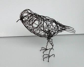 Original Handmade Wire Bird Sculpture - LAVANYA