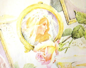 Vintage Wrapping Paper - Wedding Memories - Full Sheet Gift Wrap - American Greetings - 1978