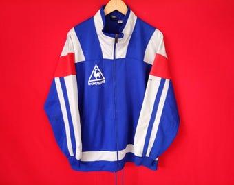 vintage Le Coq Sportif jacket multicolour large mens size