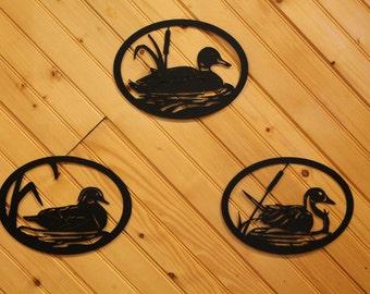 Ducks- Pintail- Mallard- Wood Duck-Metal Wall Art